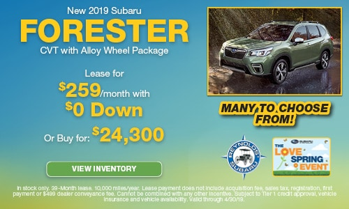New 2019 Subaru Forester CVT Alloy Wheel Package