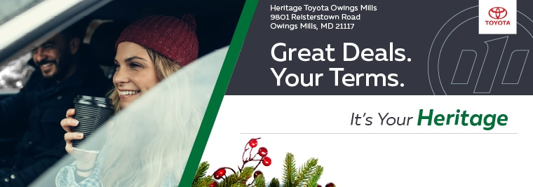 Heritage Toyota Owings Mills >> New and Pre-Owned Toyota Cars   Toyota Dealer Near Me