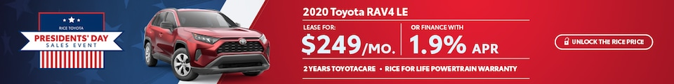 Toyota RAV4 Presidents Day Special Offer