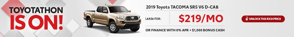 Toyotathon Tacoma Special Offer