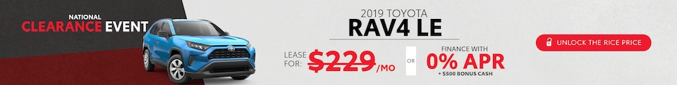 0.9% APR for 48 months on select Toyota RAV4 models