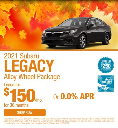 2021 Subaru Legacy Alloy Wheel Package