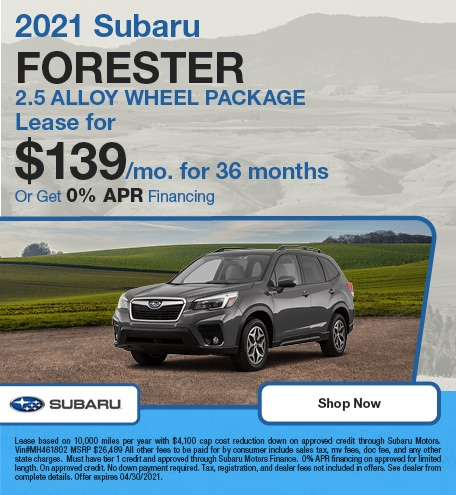 2021 Subaru Forester 2.5 Alloy Wheel Package