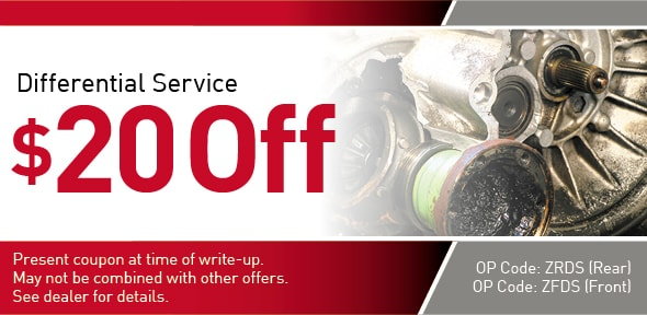 Differential Service offer Coupon, Richardson, TX