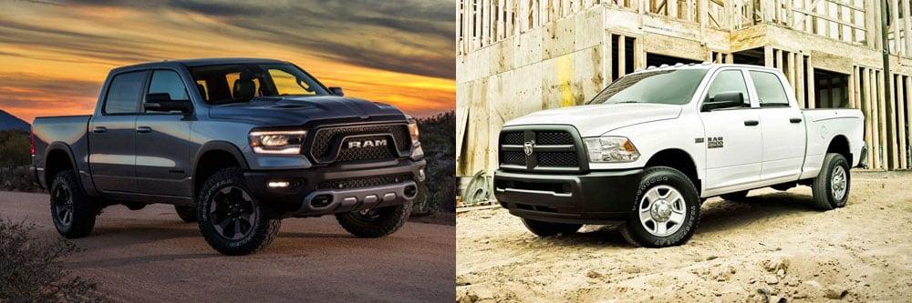2019 RAM 1500 vs 2018 RAM 2500 | Features and Specs | Arlington, TX