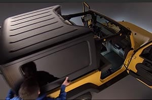 How to Remove a Hard Top on the Jeep Wrangler