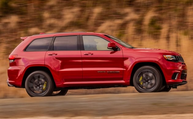 2018 Grand Cherokee Trackhawk Red