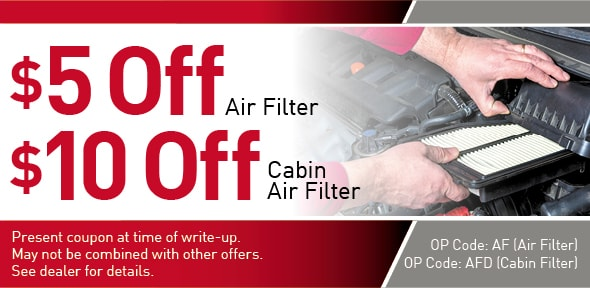 Air and Cabin Filter Special offer Coupon, Richardson, TX
