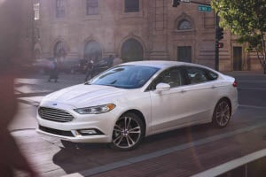 2018 Ford Fusion in White Platinum