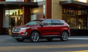 2018 Ford Edge in Ruby Red