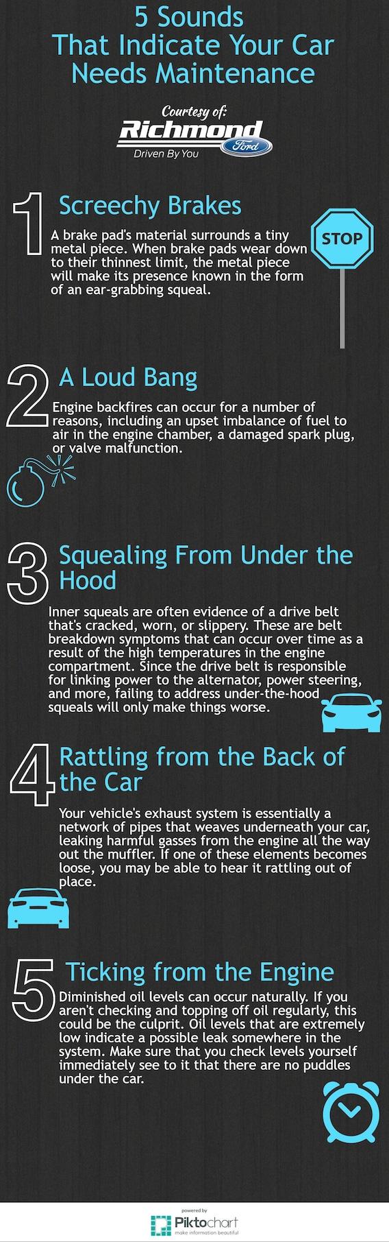 Sounds That Indicate Your Car Needs Maintenance Richmond, VA