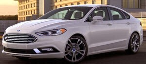 Ford Fusion in White Platinum
