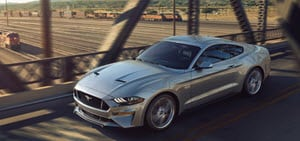 2018 Ford Mustang in Ignot Silver