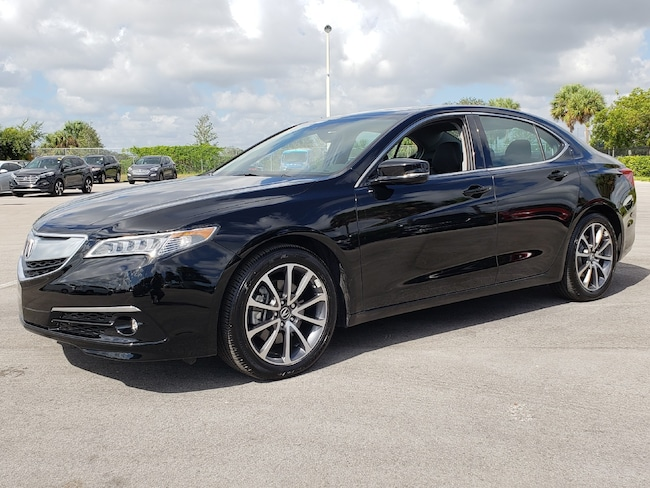 Certified Pre-Owned 2017 Acura TLX V6 SH-AWD with Advance Package Sedan Fort Lauderdale