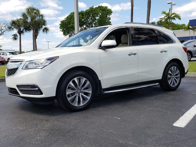 Certified Pre-Owned 2016 Acura MDX MDX SH-AWD with Technology SUV Fort Lauderdale