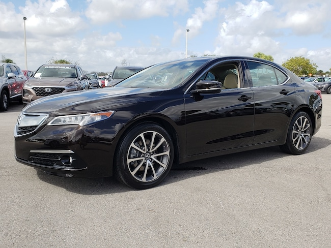Certified Pre-Owned 2017 Acura TLX V6 with Advance Package Sedan Fort Lauderdale