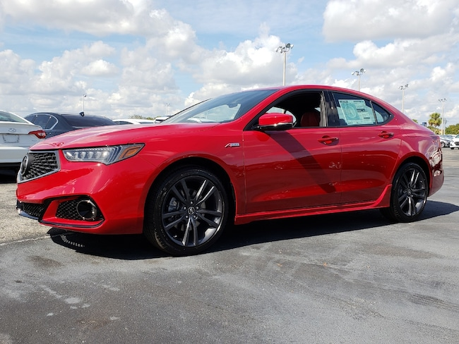 New 2019 Acura TLX 3.5 V-6 9-AT P-AWS with A-SPEC RED Sedan Fort Lauderdale