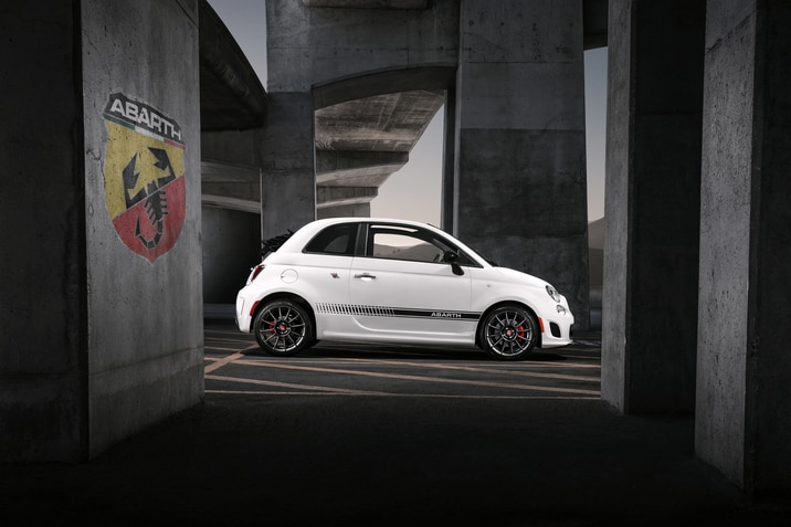FIAT 500 Abarth with white exterior color