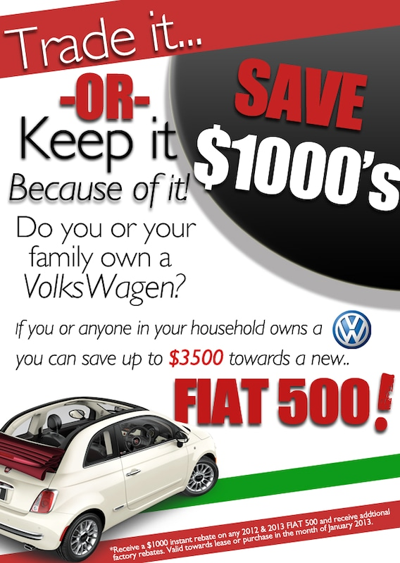 Volkswagen Owners! Get Paid to Trade | Rick Case FIAT