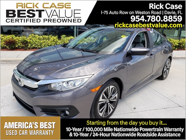 Used 2016 Honda Civic 4DR CVT EX-T Near Miami