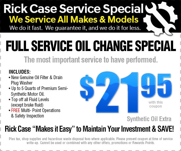 Express Oil Change Special: