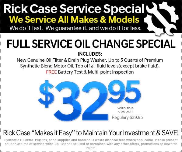 Oil Change Coupons >> Hyundai Service Coupons And Specials Rick Case Hyundai