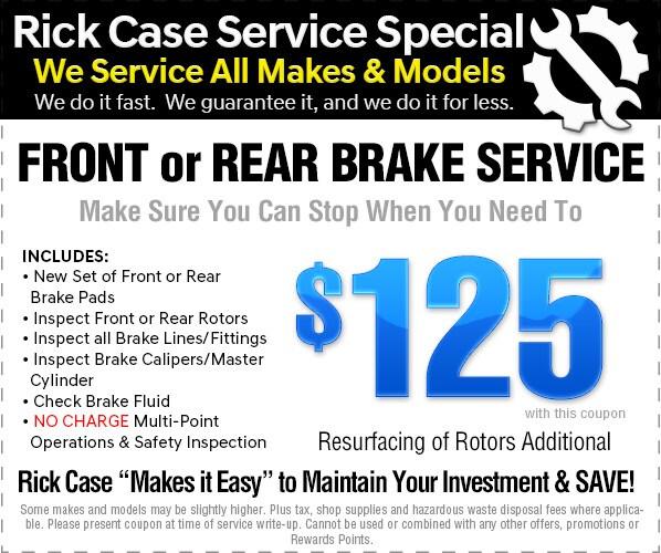 Superb Front Or Rear Brake Service $125