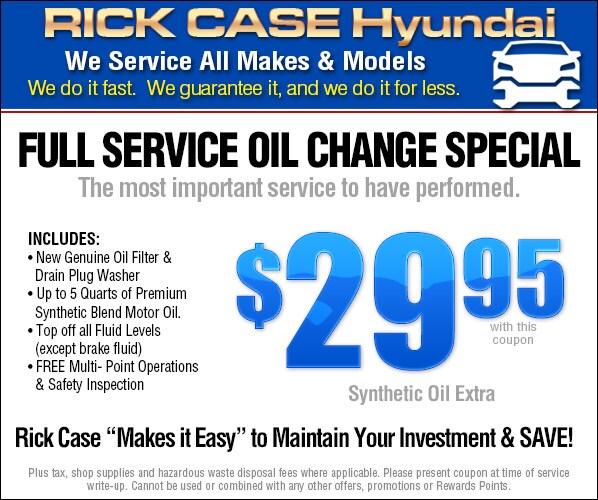 Auto Service Specials Plantation | Hyundai Service s Near Ft ...