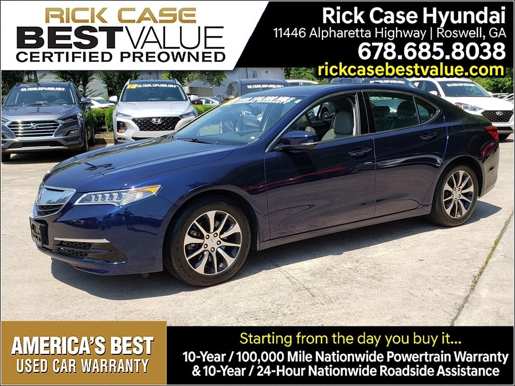 Acura Roadside Assistance >> Used 2016 Acura Tlx Atlanta Area Rick Case Hyundai Of Roswell