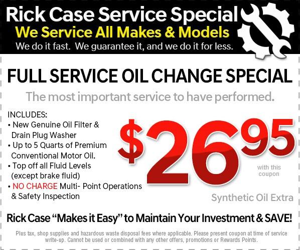 Full Service Oil Change ...