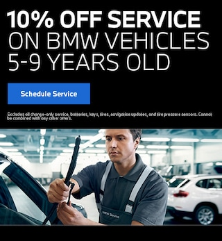 10% Service BMW Vehicles 5-9 Years Old