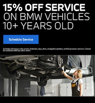 15% off Service BMW Vehicles 10+ Years Old