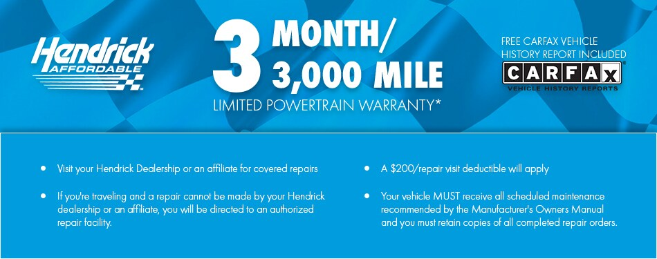 Hendrick Affordable Limited Powertrain Warranty