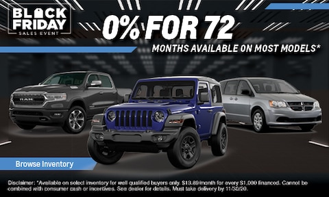 0% Financing for 72 Months on Most New Models!