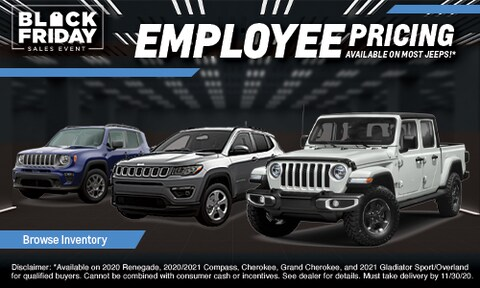 Employee Pricing on Most Jeep Models!