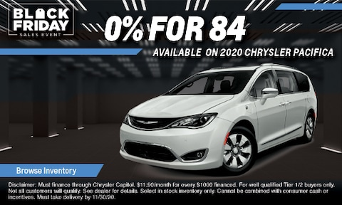 0% Financing for 84 Months on 2020 Chrysler Pacifica