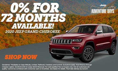 0% Financing for 72 Months on New 2020 Jeep Grand Cherokee