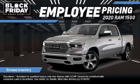 Employee Pricing on 2020 RAM 1500