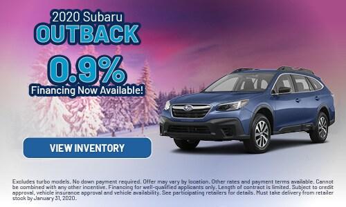 2020 Subaru Outback Financing