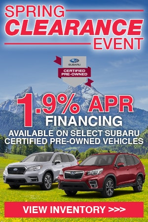 Subaru Certified Pre-Owned Incentives