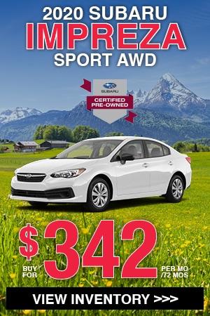 Certified 2020 Subaru Impreza Sport AWD