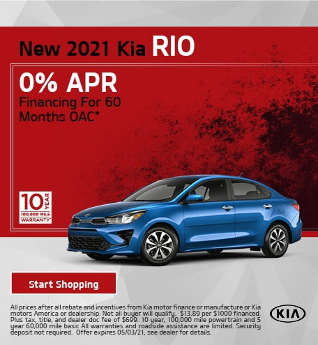 New 2021 Kia Rio