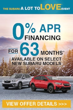 A Lot to Love Event - New Subaru Incentives