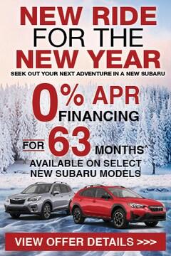 New Subaru Incentives