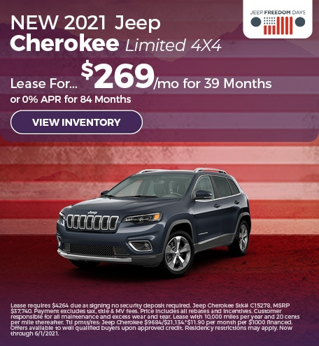 NEW 2021 Jeep Cherokee Limited 4X4
