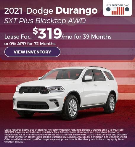 2021 Dodge Durango SXT Plus Blacktop AWD