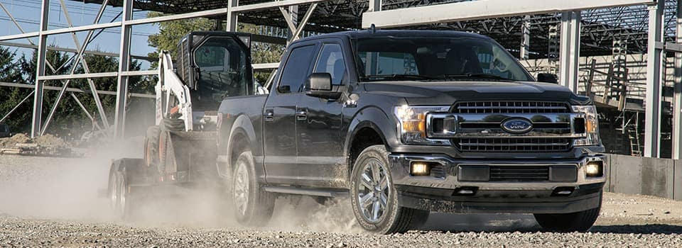 2019 Ford F-150 in construction zone
