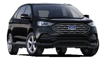 A black 2019 Ford Edge on a transparent background
