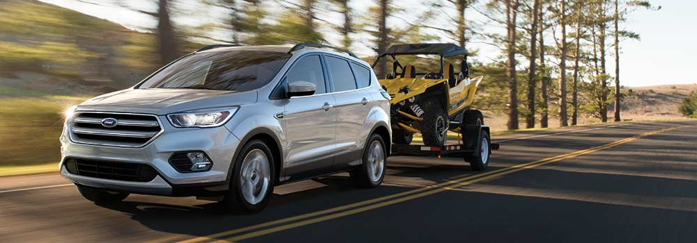 Ford Escape towing ATV