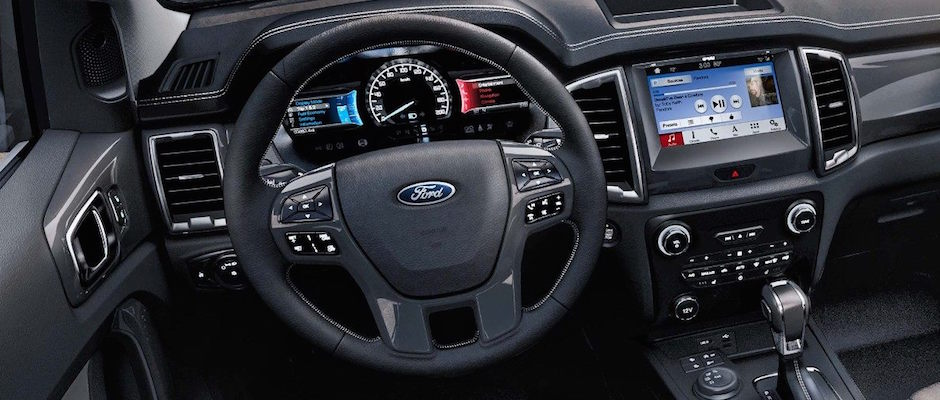 The interior dashboard of the 2019 Ford Ranger